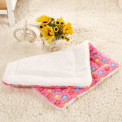 """Pet Cat Dog Bed Warm Sleep Mat Blanket Crate Kennel Cushion Pad 20x20"""" Pink"""