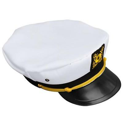 Adult Captain Cosplay Hat Cap Yacht Boat Ship Sailor Navy Marine Admiral Cap W