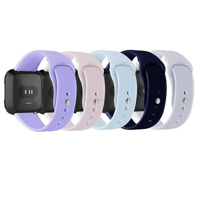 For Fitbit Versa Smartwatch Soft Silicone Replacement Sports Classic Band Strap/
