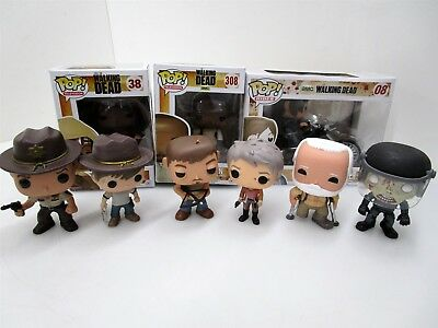 Funko Pop Walking Dead LOT Michonne 38 Vaulted Daryl Dixon's Chopper Rick Carol