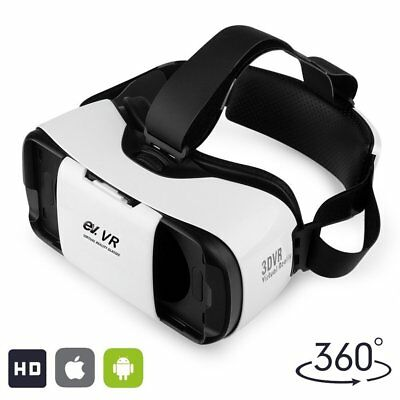 3D VR Headset, Virtual Reality Glasses for 3D Movies and Games, Adjustable Strap