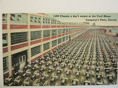 """FORD MOTOR COMPANY'S PLANT -- """"1000 Chassis, a day's output"""", Detroit, MI. #1"""