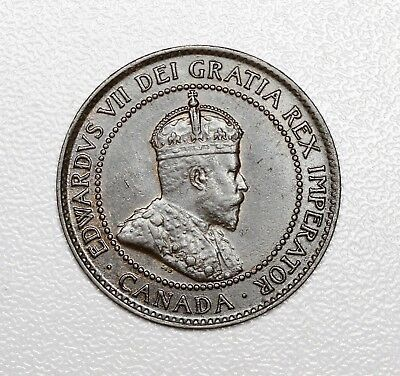 (VL504)  1902 UNC Canadian Large Cent King Edward VII Canada One Cent Coin