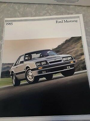 Vintage 1985 Ford Mustang Color Sales Catalog Brochure Car Automobile Auto