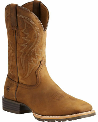 Ariat Men/'s Hybrid Rancher H2O Oil Distressed Brown Square Toe Boot 10014067