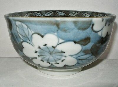 SIGNED PORCELAIN BOWL or CHAWAN Original Label NEW OLD STOCK 5+ in across JAPAN