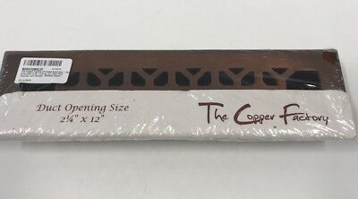 The Copper Factory CF142AN Solid Cast Copper Decorative 2.25-Inch by 12-Inch Flo