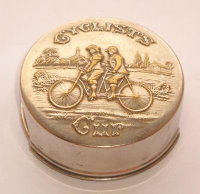 Superb Rare Large Antique Victorian Silver Pl Bicycle Collapsible Drinking Cup