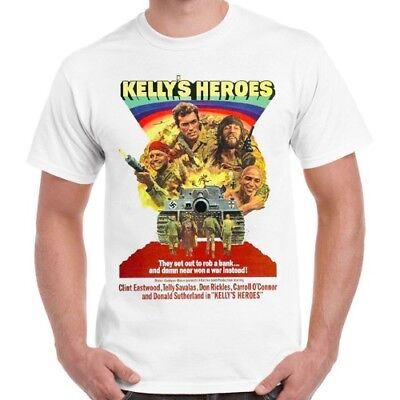 Kelly's Heroes Clint Eastwood Oddball War Soldier Movie 70s Retro T Shirt 504