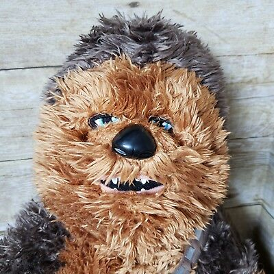 "Star Wars Chewbacca Build a Bear Wookie w/ Sound Plush Stuffed Animal 21"" Tall"