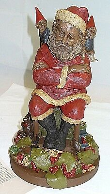 Tom Clark Gnome  Nip, Tuck & Santa, Large Christmas Figure Edition #39 With Card