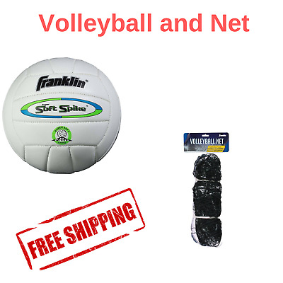 Franklin Sports Official Soft Spike Volleyball Indoor Outdoor Net Steel Cable Ne