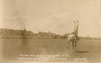 Rppc - Leonard Stroud , Trick Riding , Frontier Days , Cheyenne , Wyoming