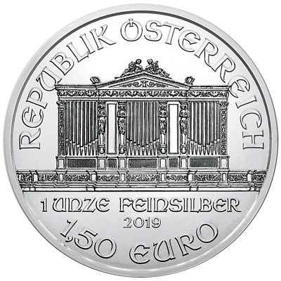 2019 1.50 Euro Silver Austrian Philharmonic 1 oz Brilliant Uncirculated