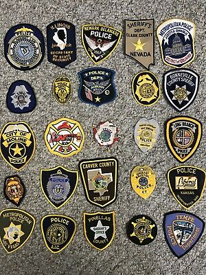 Trader Lot 1 Of 25 Assorted Collectible Police Sheriff Patches Grab Bag