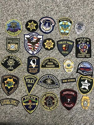 Trader Lot 4 Of 25 Assorted Collectible Police Sheriff Patches Grab Bag