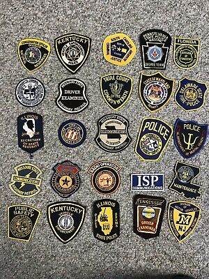 Trader Lot Of 25 Assorted Collectible State Agency Police Patches Grab Bag
