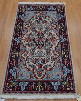 2x3'10 Amazing Colors Vintage Genuine Persian Kerman Hand Knotted Wool Area Rug