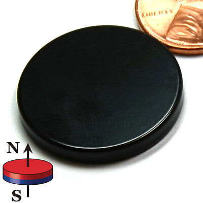 "CMS Magnetics® Super Strong N52 Neodymium Disc Magnet 1""x1/8"" Epoxy Coated 4-pc"
