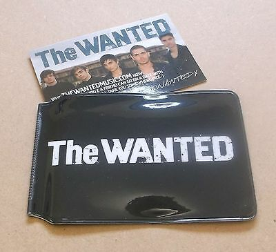 THE WANTED 2010 UK promo only travel pass holder wallet BLACK