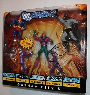 Dc Universe Gotham City 5 Batman,superman,lex Luthor,two-Face,catwoman Unopened