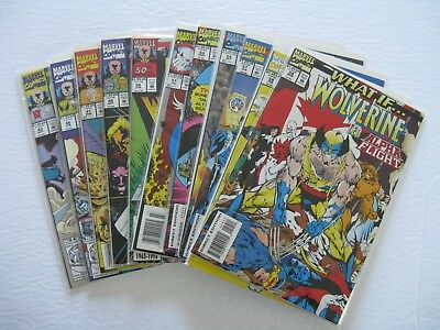Lot of 11 Marvel Comics WHAT IF...WOLVERINE CABLE MAGNETO HULK (Bagged & Boarded