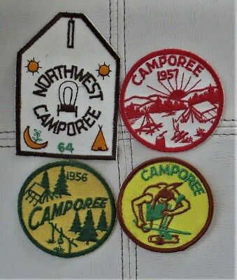 4 Boy Scouts Of America Camporee Patches