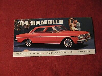 1964 Nash AMC Rambler Original Factory Showroom Dealership Salesman Brochure Old