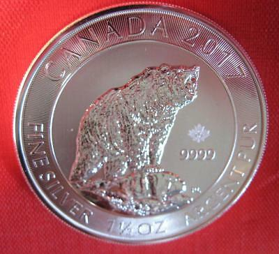 "2017 Canada 1.5 OZ THICK .9999 Silver ""GRIZZLY"" $8 Coin - As seen on TV!"