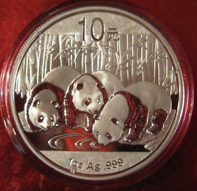 2013 ~ .999 Silver Chinese GIANT PANDA'S @ WATERING ~ 1 OZ. GORGEOUS Proof-Like!