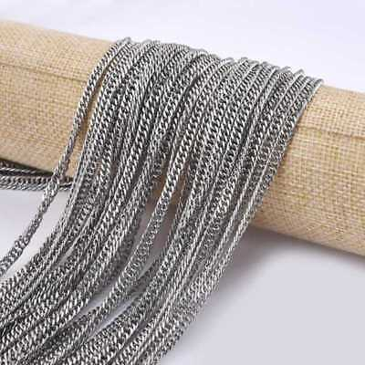 Stainless Steel Link In Chains Necklace For Men Women Jewelry DIY 5Meters Long