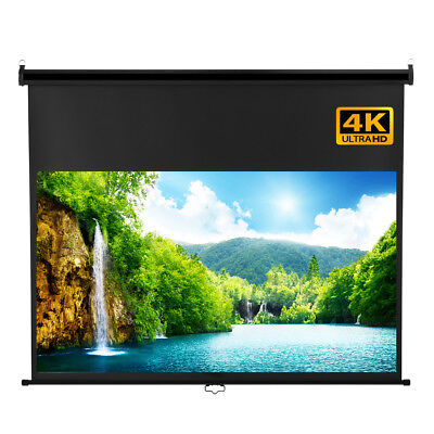 100'' Manual Pull Down Projection Projector Screen For 4K LED LCD DLP Projector