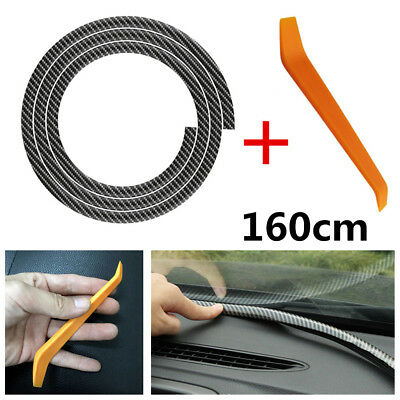 1.6M Car Dashboard/Windshield Gap Edge Sealing Rubber Strip Soundproof Dustproof