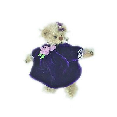 Deb Canham - Bear in Purple Dress Pin (6th Year Anniversary)