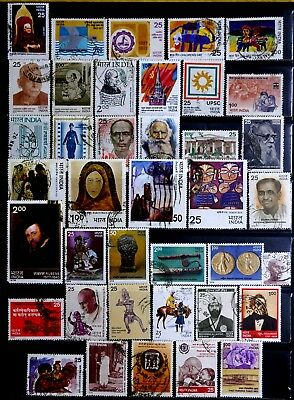 India: 1970's Stamp Collection With Sets Cv $31.40