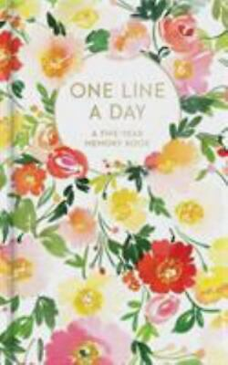 Floral One Line a Day: A Five-Year Memory Book (Diary)