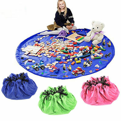 New Toy Storage Bag TIDY Organizer Rug For Legos Portable Kid 2 in 1 Play Mat UK