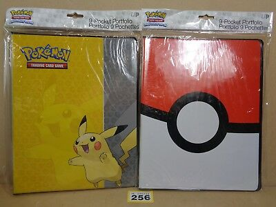 Pokemon Trading Card Game TCG Pikachu Pokeball 9 Pocket Binders Clearance 256