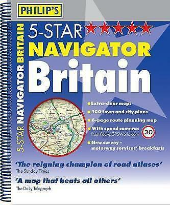 Philip's 5-Star Navigator Britain: Spiral, , Very Good Book