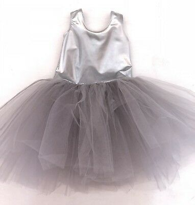 Gorgeous Cotton On Kids Leotard Silver Tutu Dress Size 1-2 Worm Once