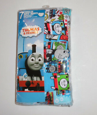 Thomas the Tank Engine Train 7 Cotton Underwear Briefs Boys Toddler Size 4T NIP