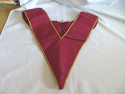 Masonic Royal Order Of Scotland Officers Crimson Collar With Gold Trim (23)