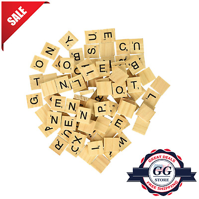 1000 Scrabble Wood Tiles Pieces 10 Full Sets 100 Letters Crafts Pendants Spell