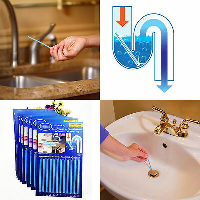 Sani Sticks Drain Cleaner Odor Remover Sink SaniSticks Kitchen Bath Tub GA