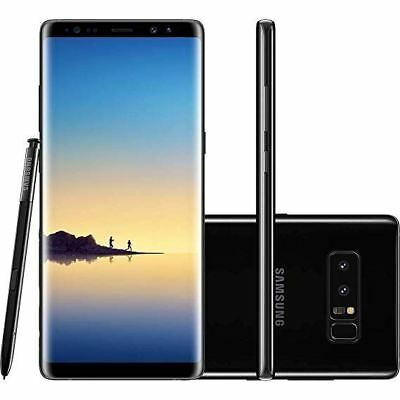 New Boxed Samsung Note 8 N950F Midnight Black 64GB Unlocked 4G Smartphone