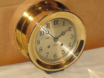 """Chelsea Vintage Ships Bell Clock~6""""dial~1977~Red Brass~Restored"""