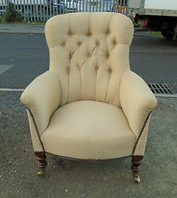 Good Quality Antique Victorian Button Back Chair     Delivery Available