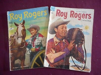 LOT of Roy Rogers comics, #41 & #67 (Dell, 1951), 10c Price tag, low grade FR/GD