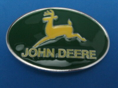 New Old Stock John Deere Oval Metal Belt Buckle Made In Usa