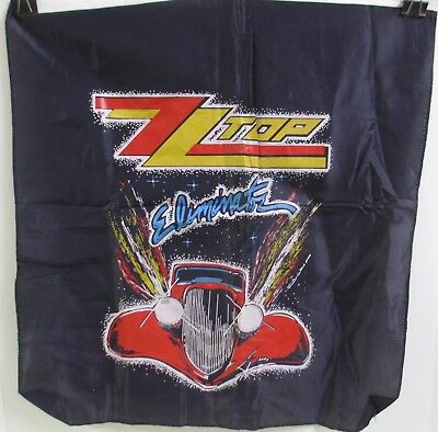 """VINTAGE 1980's ZZ TOP ELIMINATOR ALBUM COVER ART WALL DECORATION TAPESTRY 20"""""""